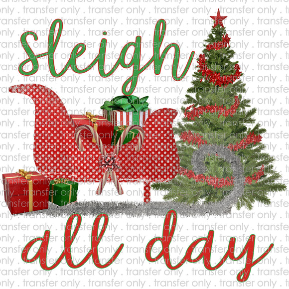Sleigh All Day Sled Sublimation Transfer