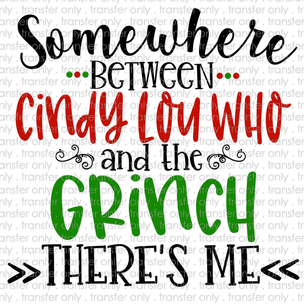 Somewhere Between Cindy Lou Who and the Grinch Sublimation Transfer