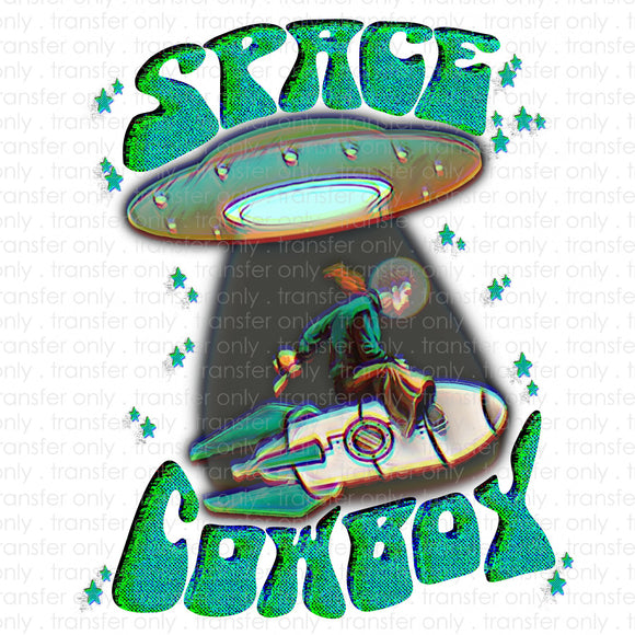 Space Cowboy Sublimation Transfer