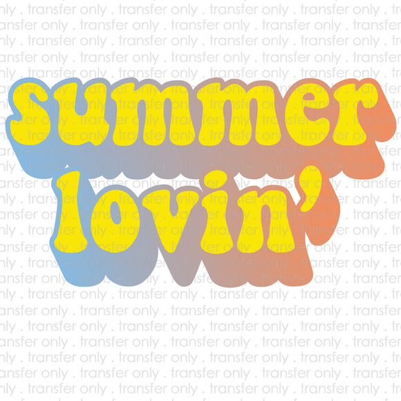 Summer Lovin Retro Sublimation Transfer