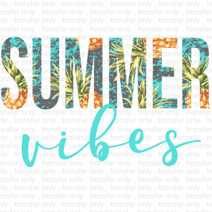 Summer Vibes Sublimation Transfer