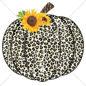 Sunflower Leopard Pumpkin Sublimation Transfer