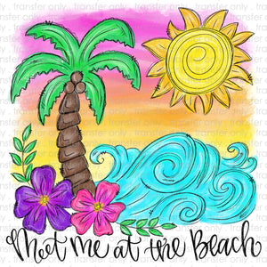 Meet me at the Beach Sublimation Transfer