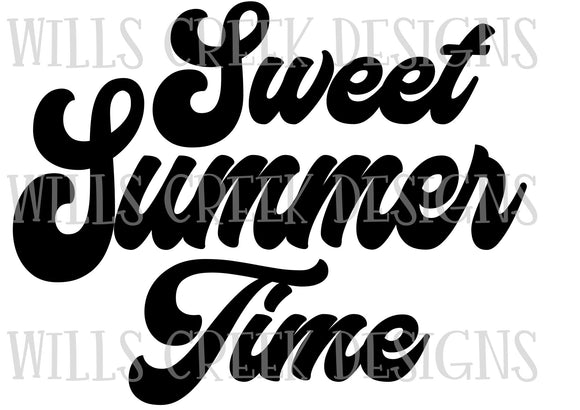 Sweet Summertime SVG Digital Download