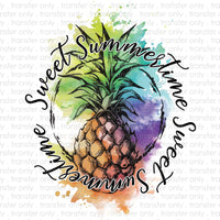 Sweet Summertime Pineapple Sublimation Transfer
