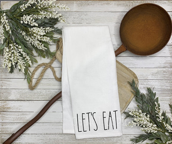 Let's Eat Tea Towel Screen Print Transfers