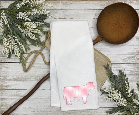 Moo Tea Towel Screen Print Transfers