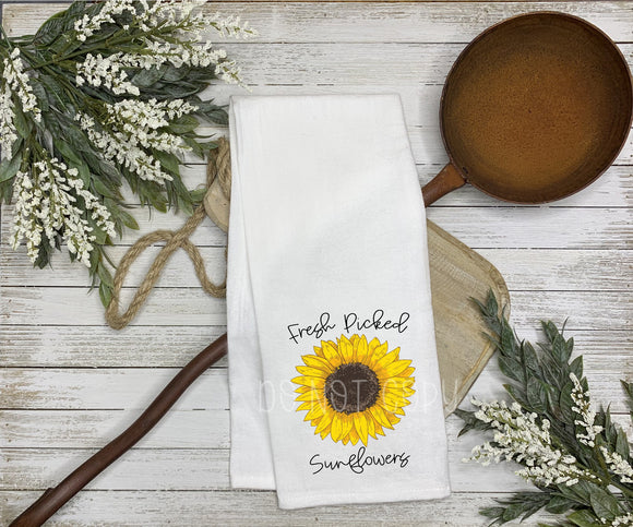 Fresh Picked Sunflowers Tea Towel Screen Print Transfers Q80
