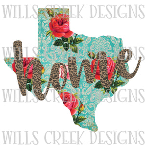 Texas Floral Home Digital Download