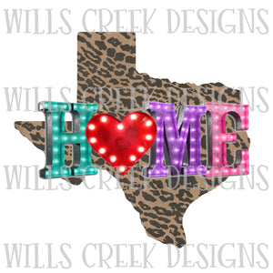 Texas Home Marquee Digital Download