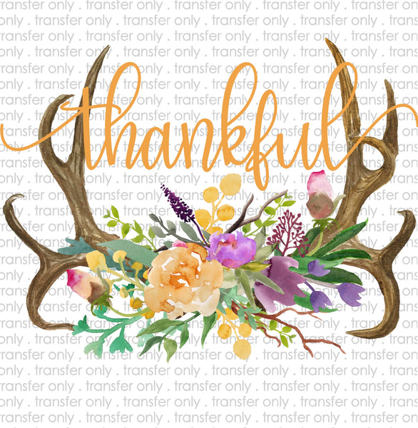 Thankful Horns Sublimation Transfer