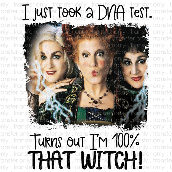 DNA Test 100% That Witch Sanderson Sublimation Transfer