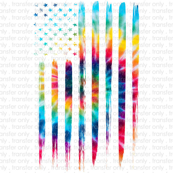 Tie Dye Flag Sublimation Transfer