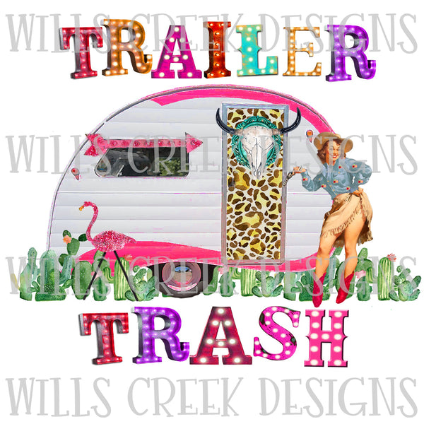 Trailer Trash Sublimation Transfer