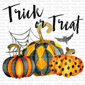 Trick or Treat Pumpkins Sublimation Transfer