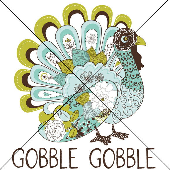 Gobble Gobble Boho Turkey Sublimation Transfer