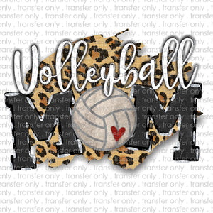 Volleyball Cheetah Mom Sublimation Transfer