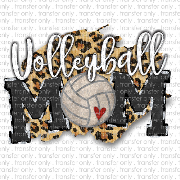 Volleyball Mom Cheetah Sublimation Transfer