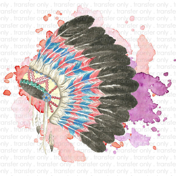 Watercolor Headdress Sublimation Transfer