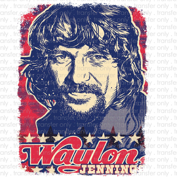 Waylon Pop Art Heat Transfer Vinyl Transfer