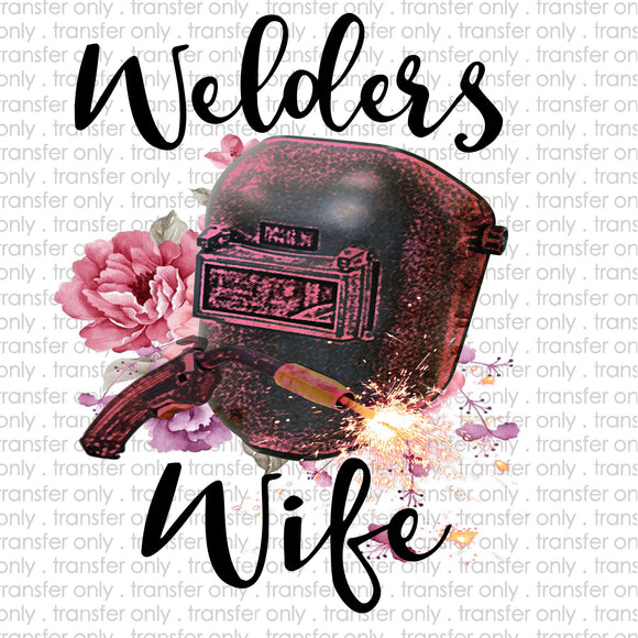 Welder's Wife Sublimation Transfer