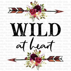 Wild at Heart Sublimation Transfer