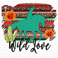 Wild Love Sublimation Transfer