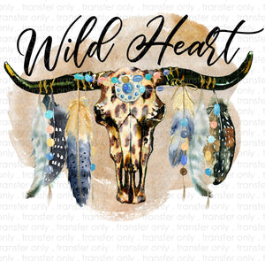 Wild Heart Sublimation Transfer