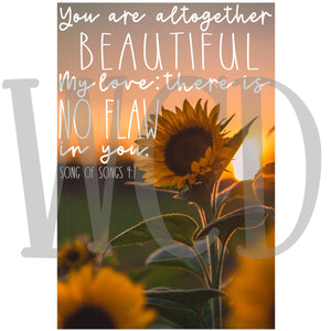 You are Altogether Beautiful Subliamtion Transfer