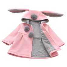 Load image into Gallery viewer, Winter Autumn Spring Baby Girls Cute Coat Jacket Long Sleeve Rabbit Ear Hoodie Casual Outerwear Baby Infants  Christmas Outwear