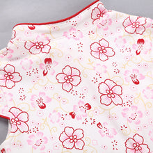 Load image into Gallery viewer, Toddler Baby Girls Kids Flowers Cheongsam Floral Party Princess Dresses
