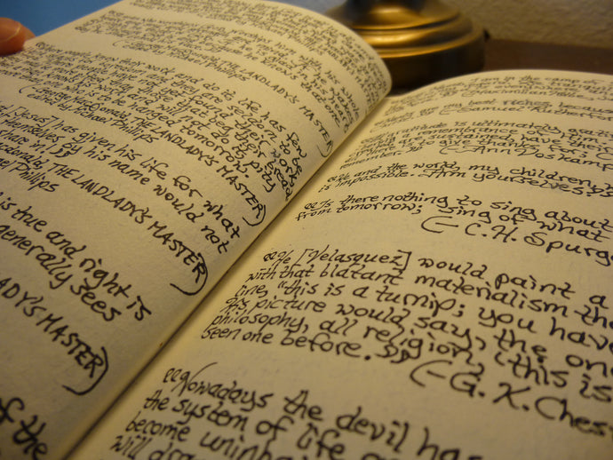 On The Commonplace Book: The Need To Keep Records of Words Not Ours