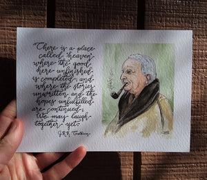 We May Laugh Together Yet (J.R.R. Tolkien Portrait)