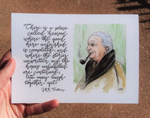 Load image into Gallery viewer, We May Laugh Together Yet (J.R.R. Tolkien Portrait)