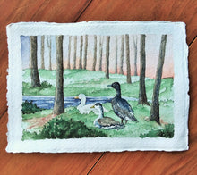 Load image into Gallery viewer, Motley Duck Sunset: Original Watercolor Painting