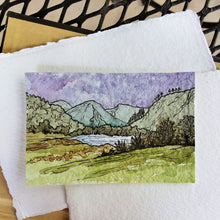 Load image into Gallery viewer, Glendalough Lake, County Wicklow: Original Miniature Watercolor Sketch