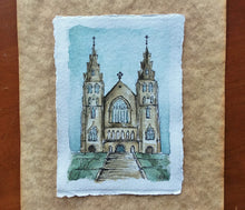 Load image into Gallery viewer, St. Patrick's Cathedral in Armagh, Northern Ireland: Original Watercolor Sketch