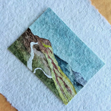 Load image into Gallery viewer, Rain Over The Croagh Patrick Hills: Original Watercolor Tiny Landscape