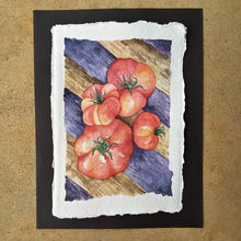 Load image into Gallery viewer, Quartet of Summer Tomatoes: Original Watercolor Painting