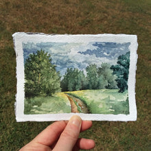Load image into Gallery viewer, A Spot of Summer's End (Clarksville, Arkansas): Original Watercolor Painting