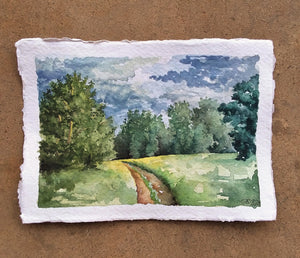 A Spot of Summer's End (Clarksville, Arkansas): Original Watercolor Painting