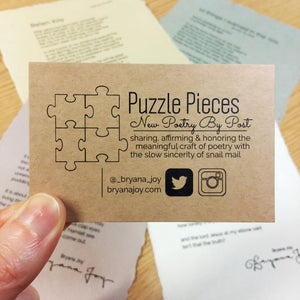 Puzzle Pieces: New Poetry by Post [Add-On For Current Subscribers]