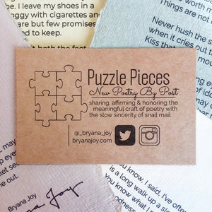 Puzzle Pieces: New Poetry by Post [1 Year Subscription]