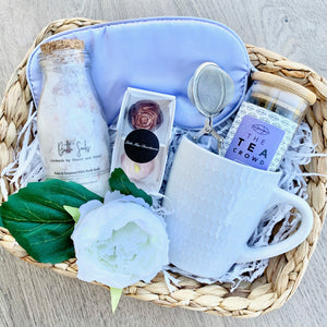 Gift Wrapped Basket with Mum + Bub Tea