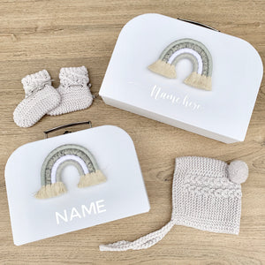 - Grey - Personalised Rainbow Keepsake Box