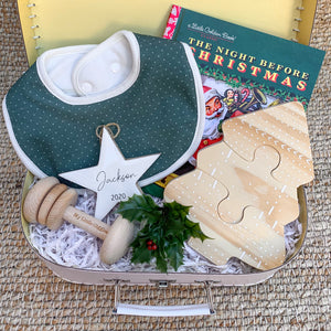 Limited Edition Christmas Baby Box (Pine Tree Bib OSFA)