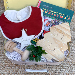 Limited Edition Christmas Baby Box (Rudolf Heritage Bib OSFA)