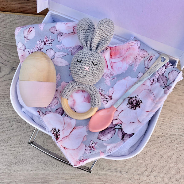 Mini Personalised Easter Gift Box - Grey Floral