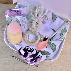 Mini Personalised Easter Gift Box - Purple Floral