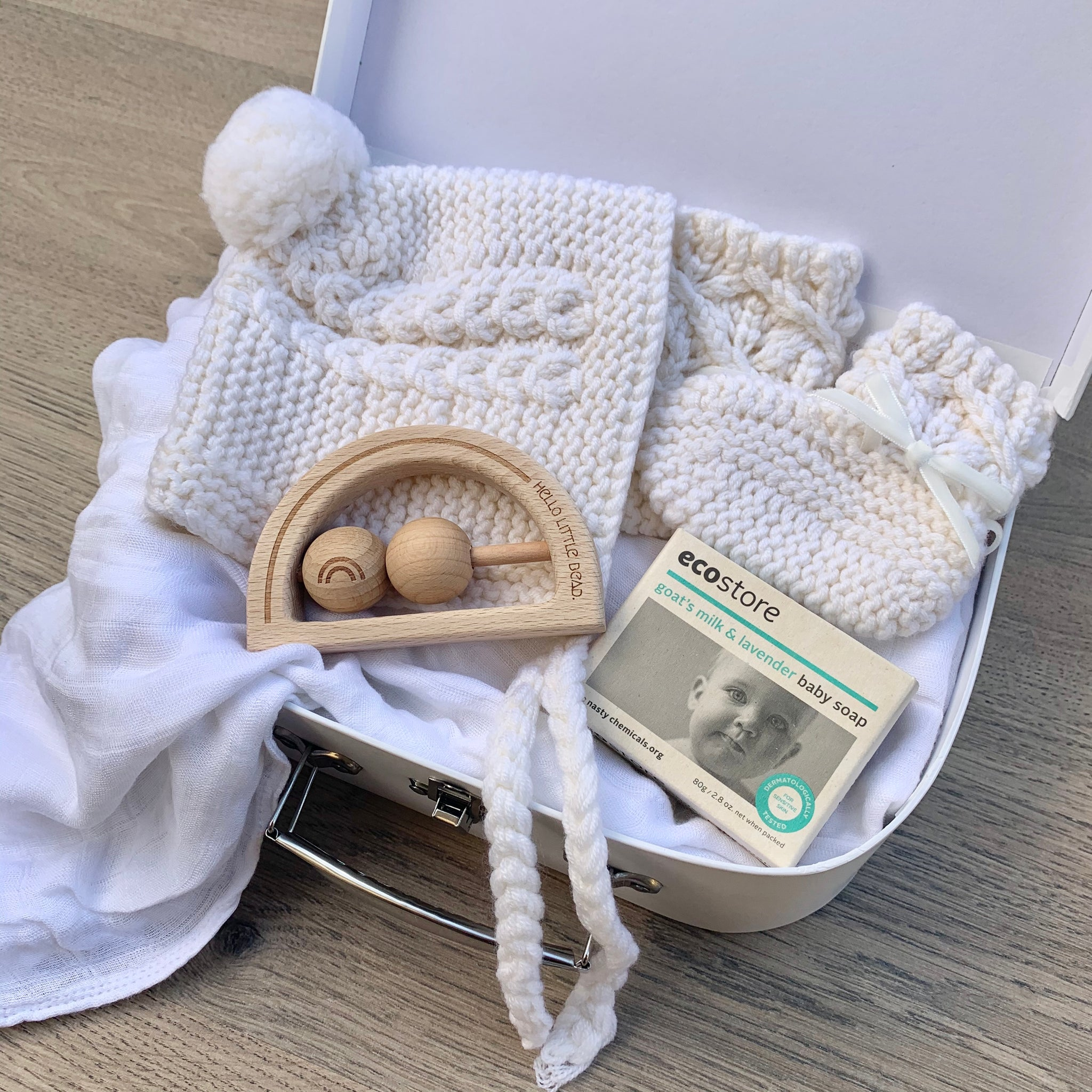 Ivory Petite Winter Baby Box